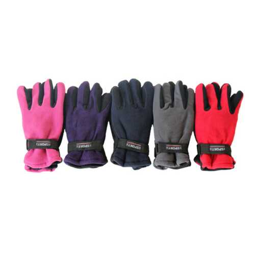 Case of [120] Women's Fleece Gloves - Wrist Straps