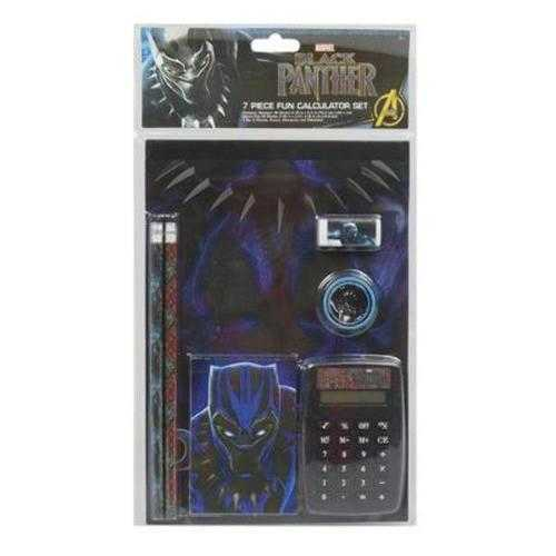 Case of [12] Calculator Set 7 Piece Black Panther