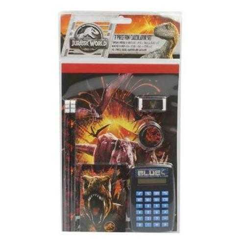 Case of [12] Calculator Set 7 Piece Jurassic Wor