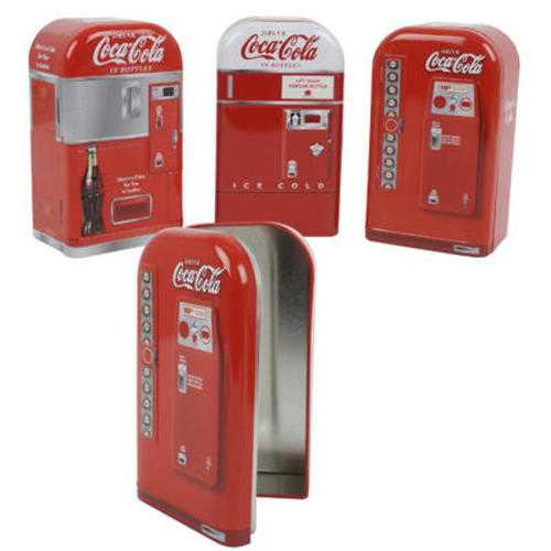 Case of [12] Coca Cola Vending Machine Penny Bank - Assorted