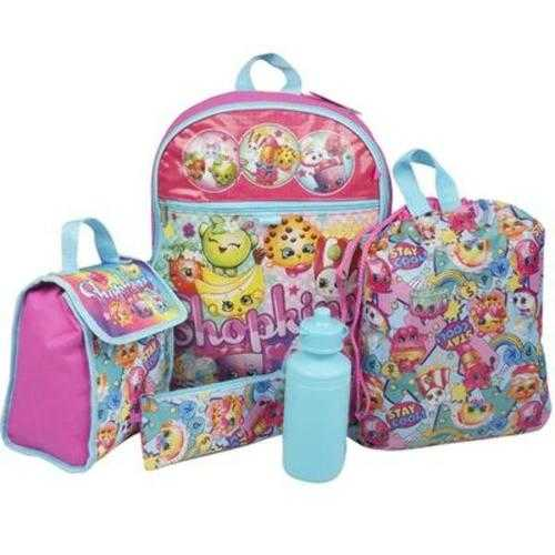 Case of [6] 5 Piece Shopkin Backpack Set