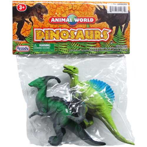"""Case of [48] 2-Piece 5.5"""" Assorted Style Plastic Dinosaurs"""