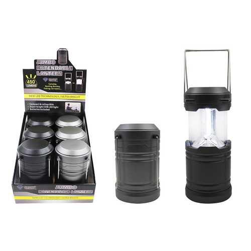 Case of [6] Jumbo Cob LED Pop-Up Lantern