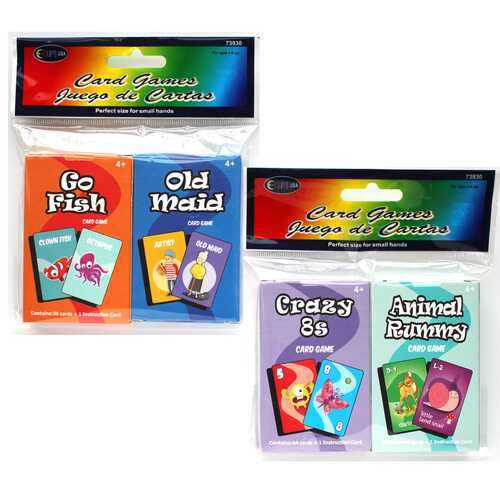 Case of [48] Kids' Card Games - Assorted - 2 Pack