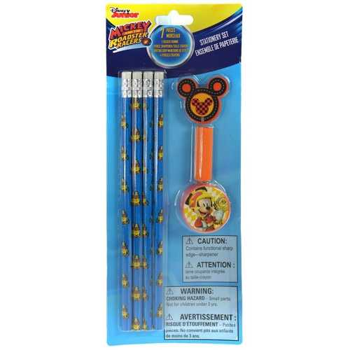 Case of [216] Mickey Roadsters 7 Piece Stationery Set