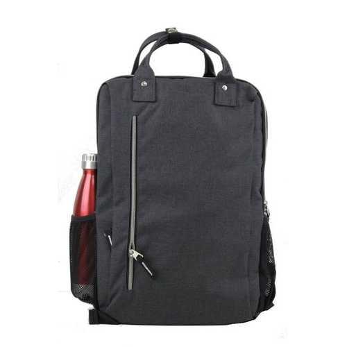 "Case of [24] 17"" Premium Sleek Computer Backpack - Charcoal"