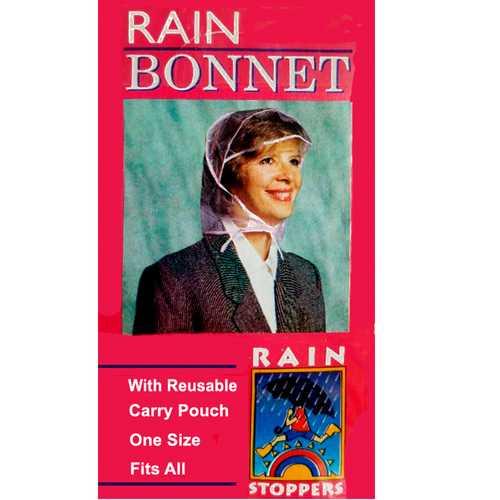 """Case of [96] """"Rain Stoppers"""" Rain Bonnet"""