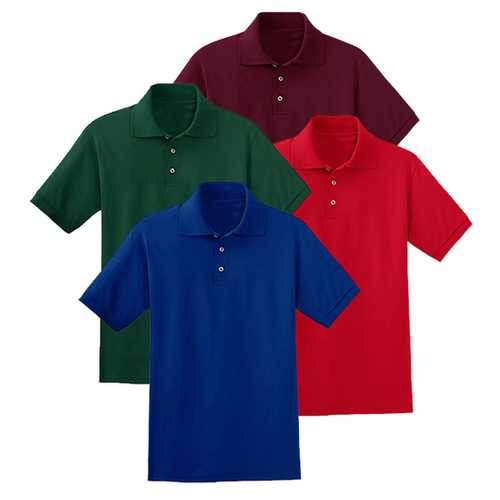 Case of [12] Jerzees - Irregular Pique Polo Shirts - Assorted - 2X