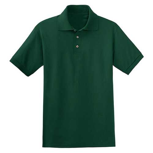 Case of [12] Jerzees - Irregular Pique Polo Shirts - Forest Green - 2X