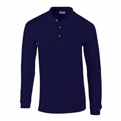 Case of [12] Gildan First Quality - Gildan Style 3400 7.0 Oz. Adult Pique Long Sleeve Sport Shirt - Navy - 2X