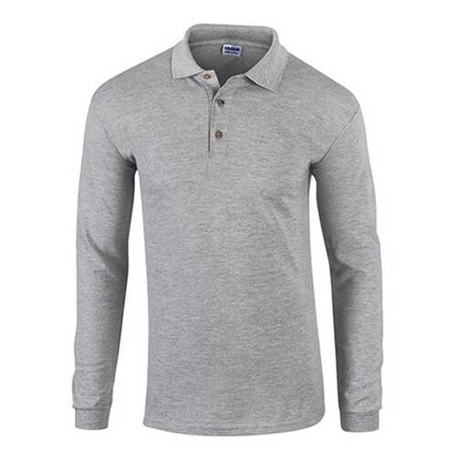 Case of [12] Gildan First Quality - Gildan Style 3400 7.0 Oz. Adult Pique Long Sleeve Sport Shirt - Sport Grey - 2X