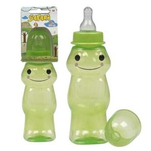 Case of [144] 8oz Frog Shape with Silicone Nipple Baby Bottle