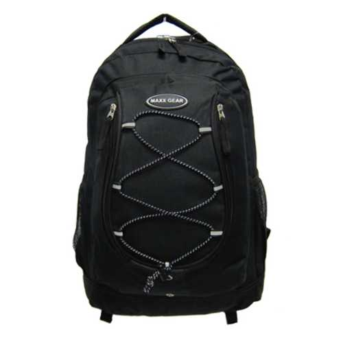 """Case of [24] 18"""" Classic Bungee Backpacks - Black"""