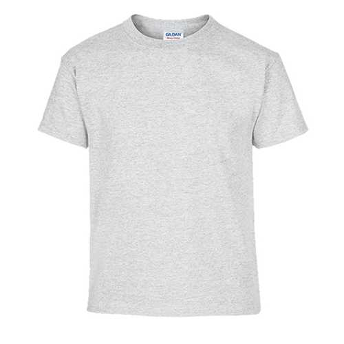 Case of [12] Ash Grey Gildan First Quality Dryblend Youth T-shirt - Small