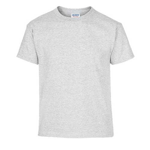 Case of [12] Ash Grey Gildan First Quality Dryblend Youth T-shirt - XS