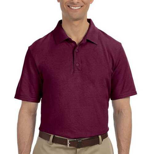 Case of [12] Maroon Gildan First Quality Dryblend Adult Pique Sport Shirt - 5X