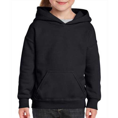 Case of [12] Black Gildan Irregular Youth Hooded Pullover - Medium
