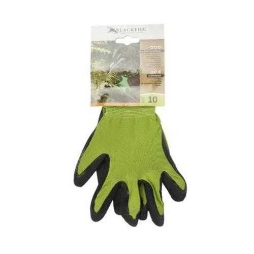 Case of [100] Green Nylon Kit Gloves with Black Crinkle - Size XL