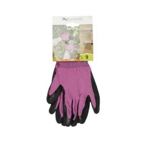 Case of [100] Pink Nylon Kit Gloves with Black Crinkle - Size L