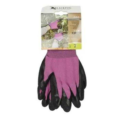 Case of [100] Pink Nylon Kit Gloves with Black Crinkle - Size Small