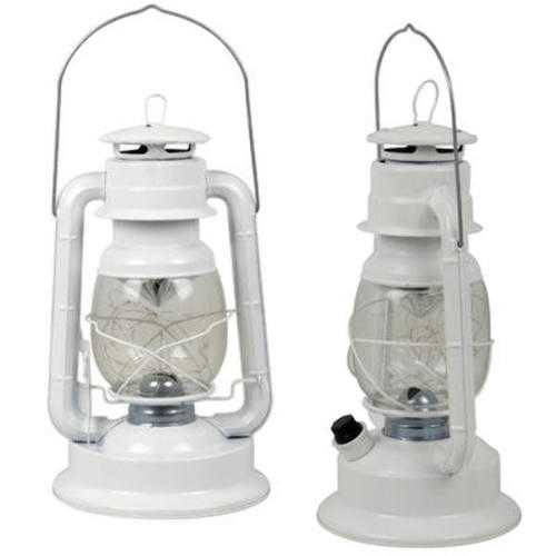 "Case of [12] 12"" White Lantern with Multicolor 18-LED Lights"