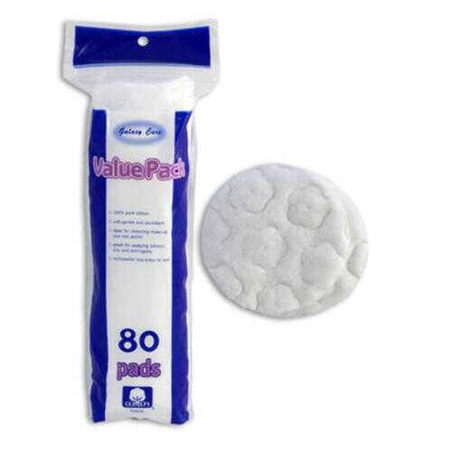 Case of [24] Galaxy Care Cosmetic Pads - 80 Count