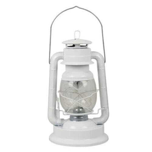 "Case of [12] 13.5"" White Iron Lantern with Colored LED Lights"