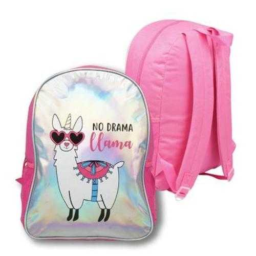 Case of [24] No Drama Llama Holographic Foil Backpack