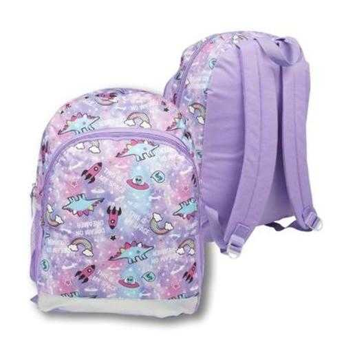 """Case of [24] 16"""" Classic Print Backpack - Purple Spaceship"""
