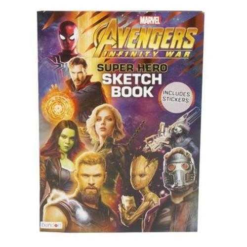 Case of [24] Avengers Infinity War Sketch Activity Book