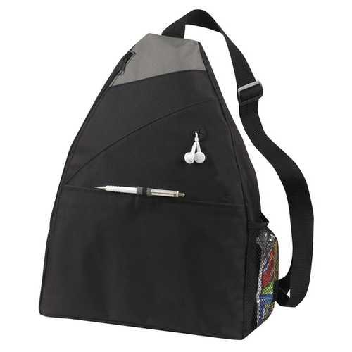 "Case of [50] 17"" Classic Large Sling Backpack - Black"
