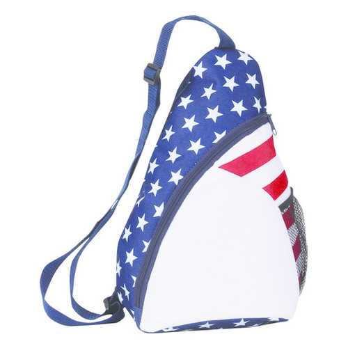 """Case of [50] 15"""" Classic Patriotic Sling Backpack"""