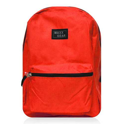 """Case of [24] 16"""" Maxx Gear Basic Backpack - Red"""