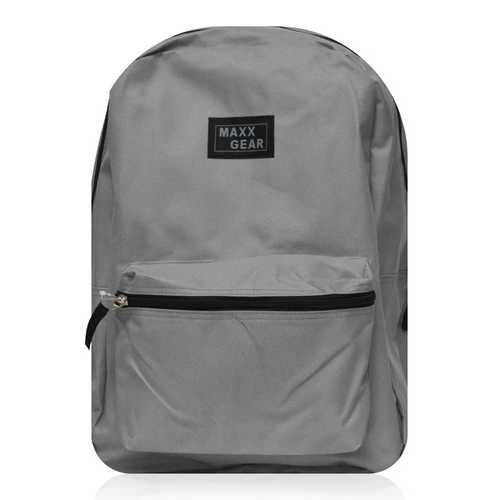 "Case of [24] 16"" Maxx Gear Basic Backpack - Grey"