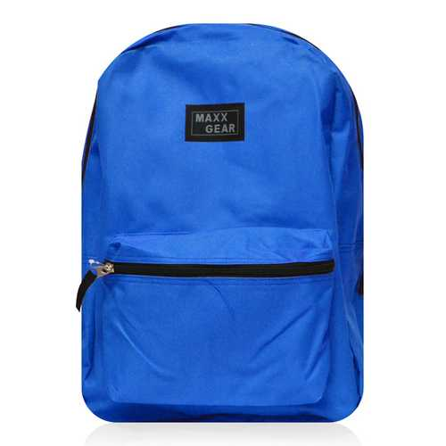 "Case of [24] 16"" Maxx Gear Basic Backpack - Royal Blue"