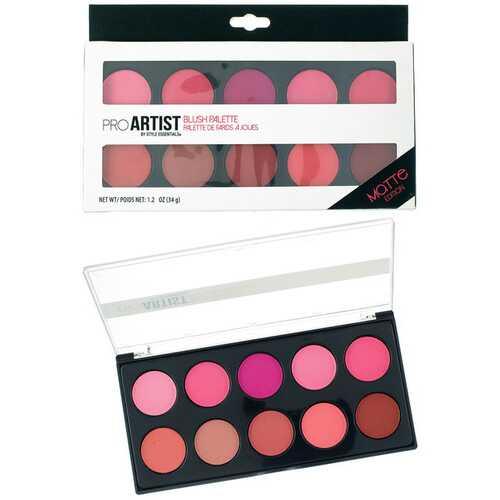 Case of [48] Style Essentials Pro Artist Blush Palette - 10 Shades, Matte