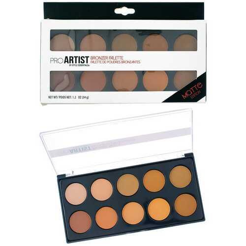 Case of [48] Style Essentials Pro Artist Bronzer Palette - 10 Shades, Matte