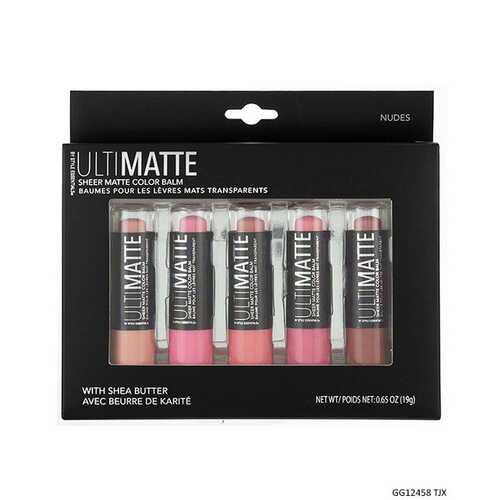 Case of [48] Style Essentials Ultimatte Pink Sheer Matte Lip Balm - 5 Balms