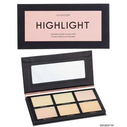 Case of [48] Color Story Natural Glow Highlight Palette - 6 Shades