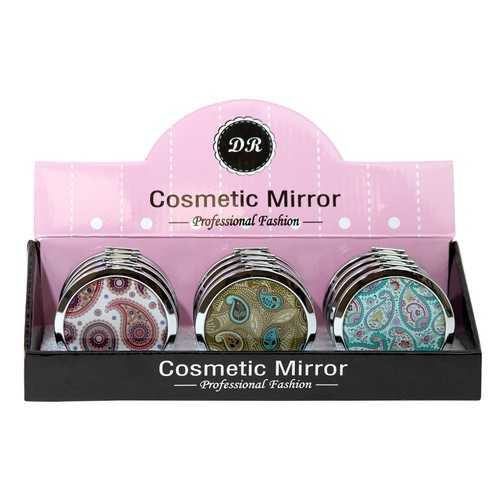 Case of [48] Professional Fashion Round Cosmetic Mirror - Assorted Paisley Prints