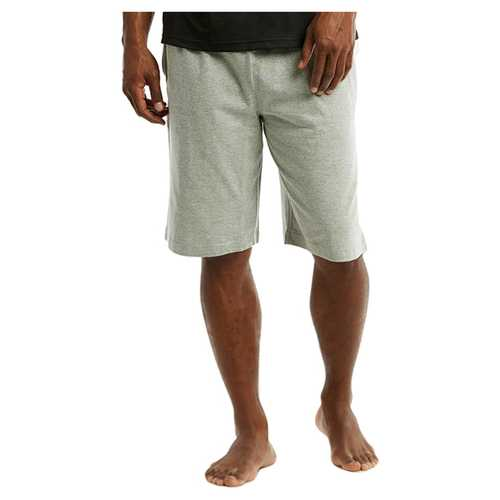 Case of [24] Mens Cotton Knit Shorts - Heather - Assorted Sizes