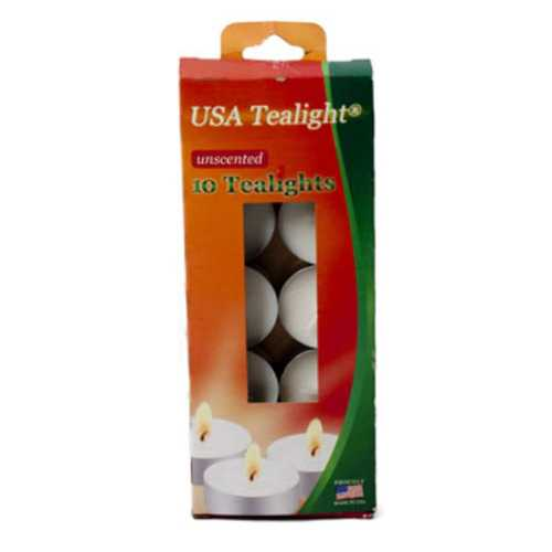 Case of [48] Unscented Candle Tealights - 10 Pack