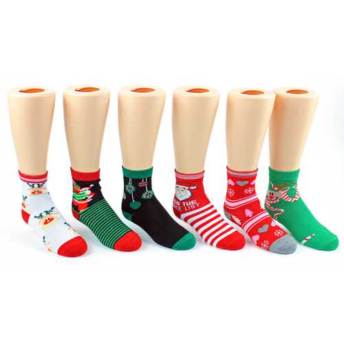 Case of [120] Assorted Women and Children's Christmas Socks