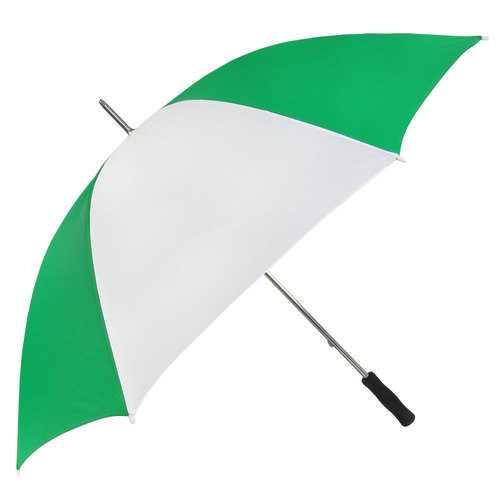 "Case of [24] 60"" Golf Umbrella - Green/White"