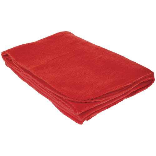 "Case of [20] TrailWorthy Fleece Blanket & Storage Bag 45"" x 60"" - Red"