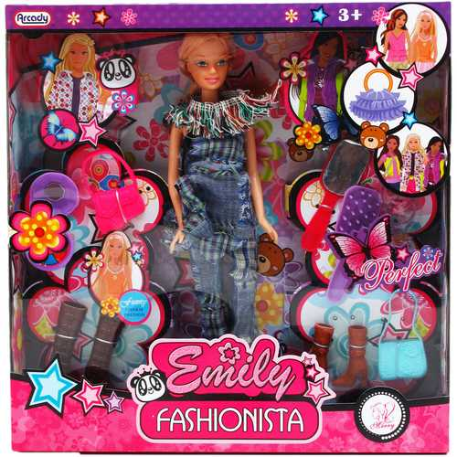 """Case of [12] 12"""" Emily Doll with Accessories Play Set"""
