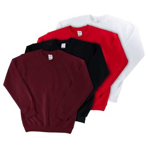 Case of [12] Gildan Irregular Adult Crew Sweatshirts - Extra Large - Assorted Colors