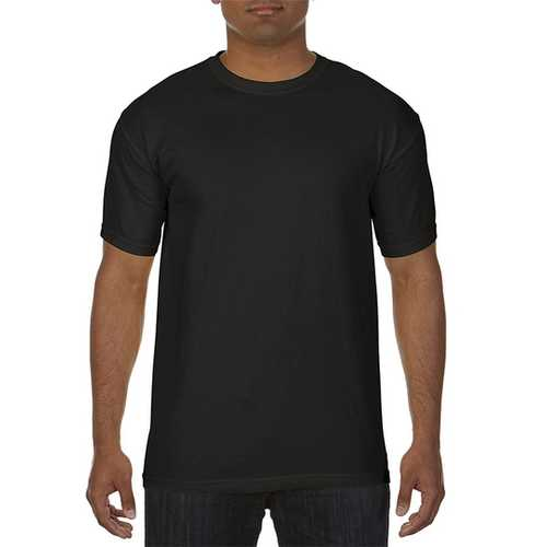 Case of [12] Comfort Colors First Quality - Garment Dyed Short Sleeve T-Shirts - Black - Medium