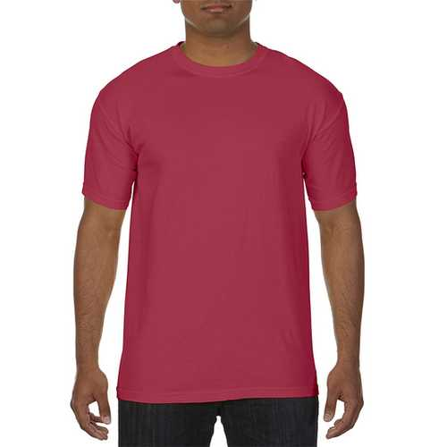 Case of [12] Comfort Colors First Quality - Garment Dyed Short Sleeve T-Shirts - Brick - Small