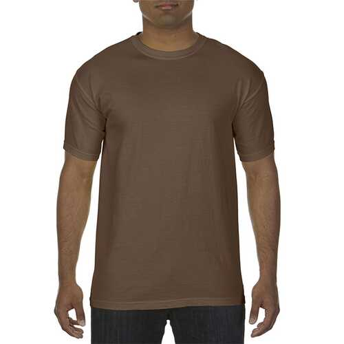 Case of [12] Comfort Colors First Quality - Garment Dyed Short Sleeve T-Shirts - Brown - Small
